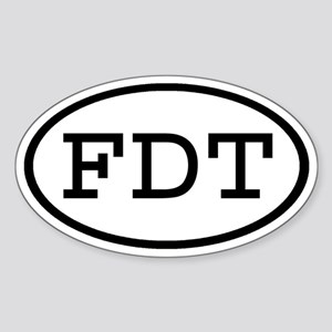 FDT Oval Oval Sticker